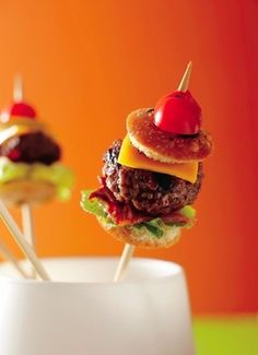 Burger on a Stick #Bites #Appetizers