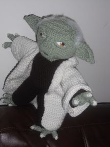 #Free Pattern; crochet; amigurumi; Yoda  ~~