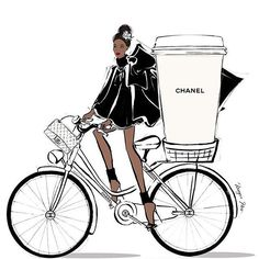 WEBSTA @ thinkliquorice - Good Morning, World! Start your day with a good coffee and a large smile... Although a large coffee and good smile works just as well! #goodmorning #prlife #pragency #pr #instagram #bicycle #meganhess #meganhessillustration : @meganhess_official