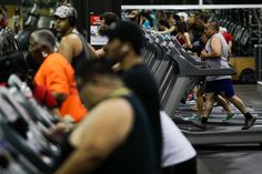 """The International Health, Racquet & Sportsclub Association reports a steady increase in the number of people who belong to a fitness club, growing even as Americans log more hours at their desks.  """"The members and guests who take advantage of the late hours are primarily younger - in their 20s to mid-30s, young professionals,"""" says Scott Elliott, general manager at Studio Fitness, a Houston gym that recently pushed its weeknight closing time from 9 p.m. to 10 p.m. to accommodate demand…"""