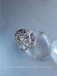 finished ring with amethyst
