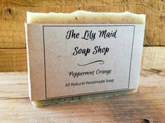 Peppermint Orange Soap All Natural Handmade by TheLilyMaidSoapShop