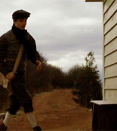 gif Gilbert opening the school door for Anne