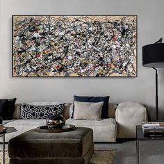 modern abstract painting original, oversized wall art canvas, large oil painting, large abstract art canvas, modern wall art on canvas Oversized Canvas Art, Large Canvas Art, Large Painting, Acrylic Painting Canvas, Canvas Wall Art, Jackson Pollock, Grand Art Mural, Splatter Art, Extra Large Wall Art
