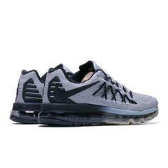 004ad30387c541 Nike Air Max 2015 Running Gray Black Shoes For Men Cheap Nike Air Max