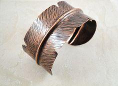 Earthy feather cuff