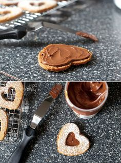 Chocolate Hazelnut Linzer Hearts   27 Chocolate Desserts That Make Valentine's Day Worth Celebrating