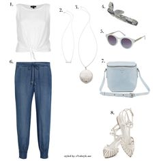 vegan outfit featuring splendid pants, a topshop shirt, headband, and sunglasses, modcloth sandals, and necklaces by house of harlow 1960 an...