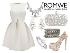 """""""ROMWE"""" by deedee-pekarik ❤ liked on Polyvore featuring Giuseppe Zanotti, Marchesa, Bling Jewelry, Oscar de la Renta, Allurez, white, romwe and silverjewelry"""