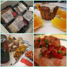 A collage of some of my weekly Diet-to-Go meals, all ready to chow down while losing weight.