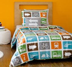 What civil engineer wouldn't want a transportation themed bed spread!