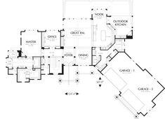 Craftsman Style House Plan - 4 Beds 3.5 Baths 5155 Sq/Ft Plan #48-607 - Eplans.com Mechanical Room, Huge Master Bedroom, Craftsman Style House Plans, Craftsman Houses, Luxury House Plans, Basement Flooring, Flooring Tiles, Outdoor Kitchen Design, House Floor Plans