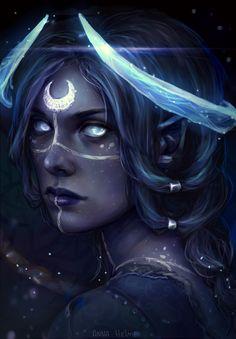Moon godlike fanart, Anna Helme on ArtStation at https://www.artstation.com/artwork/EDzxv