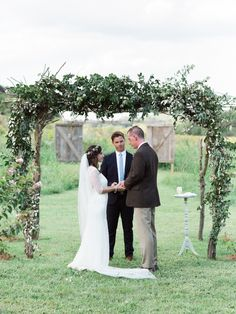 Kilgro wedding 2015  HMU: Hannah Marie Garnett Wedding Coordinator: Allison Clem Brides Dress: The Dress Theory- Sarah Seven/ Free People Invitations: Huck and Pippa / Audrey Meadows  Flowers: Stems & Styles Brides Shoes: Nisolo Signs: Giving in Grace/ Chandler Kitchens  Venue: Fly Creek Farm/ Laurie Popp Catering: Jim 'N Nick's - Birmingham Area southern wedding  boho wedding groom  first look  bride