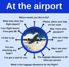 Vocabulary related to the airport and flights for EFL students. English Pronouns, English Idioms, English Phrases, English Lessons, English Grammar, English Opposite Words, Learn English Words, Grammar And Vocabulary, English Vocabulary Words
