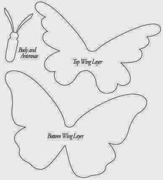DIY projects are offered on our internet site. Paper Butterflies, Beautiful Butterflies, Paper Flowers, Butterfly Template, Butterfly Crafts, Felt Butterfly Pattern, Crown Template, Butterfly Mobile, Heart Template