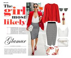 Untitled #15 by meliki on Polyvore featuring polyvore fashion style Narciso Rodriguez River Island Dorothy Perkins Ray-Ban Yves Saint Laurent Elizabeth and James clothing