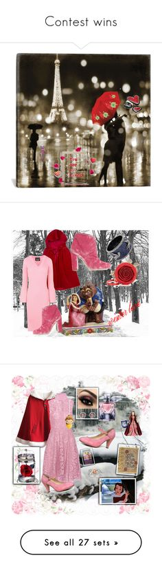 """Contest wins"" by nanitas23 ❤ liked on Polyvore featuring art, Pottery Barn, Chateau De Sable, Boutique Moschino, Malone Souliers, Winter, love, disney, belle and beast"