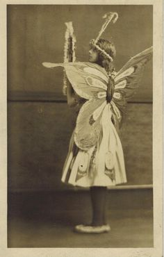 RPPC Girl in Butterfly Costume Art Nouveau Halloween Masque or Play Photo Antique Photos, Vintage Pictures, Vintage Photographs, Flower Costume, Butterfly Costume, Butterfly Frame, Vintage Butterfly, Vintage Ballet, Mermaid Fairy