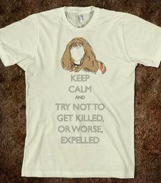"Harry Potter ""Keep Calm"" shirt courtesy of Hermione Granger - @Bethany Hernandez"