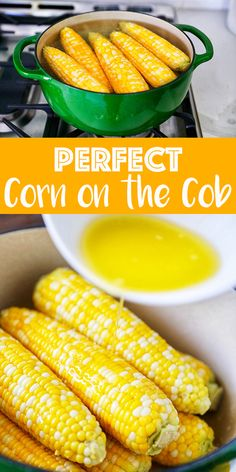 Corn is the ultimate summer vegetable and this easy no boil method is the secret to perfectly cooked corn on the cob every time. Corn Salad Recipes, Veggie Recipes, Cooking Recipes, Side Dish Recipes, Easy Dinner Recipes, Easy Meals, Summer Recipes, Easy Recipes, Breakfast Recipes