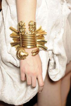 bracelet inspire by ancient Greek jewelry made by the Greek designer Sophia Kokosolaki.