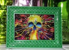 Color Overload Skull Marble Glass Art by GlassByPriscilla on Etsy