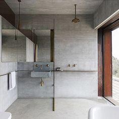 Grey & Gold. #bathroom #details #design #gold #concrete #design #home #himandi #onlinestore