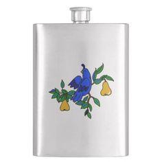 Partridge In A Pear Tree Flask http://www.zazzle.com/partridge_in_a_pear_tree_flask-256828652812070633?rf=238271513374472230  #christmas  #flask  #christmasideas
