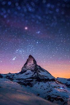 Cervino Night Sky iPhone 5 Wallpaper