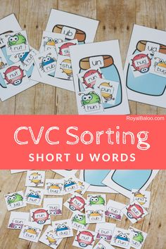 Practice reading with the fun buggy CVC short u word sort!  Bugs are the name of the game with this fun reading practice and CVC words.