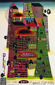 Friedensreich Hundertwasser - Good Morning City HWG41