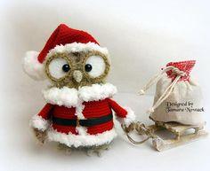 Festette the christmas owl  amigurumi PDF ebook от Nowacrochet