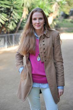 jean shirt - pink sweater
