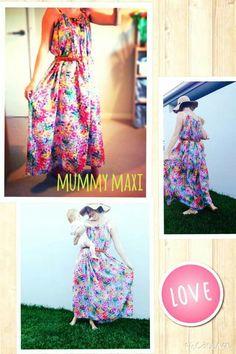 Mummy Maxi - breast feeding friendly maxi dress.