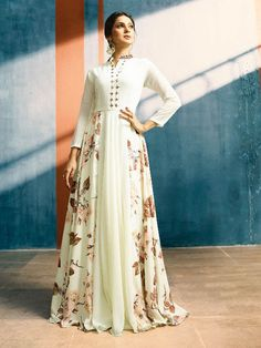 c023a00fd36 Details about Latest Bollywood Indian long Readymade anarkali suit womens  party wear gown XL