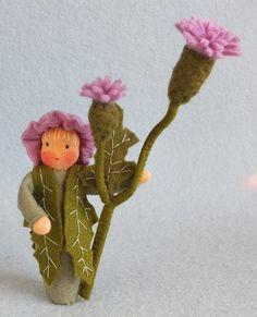 Atelier Pippilotta :: Bloemenkinderen Nieuw Pakketten Zomer      ::  Bloemenkind distel