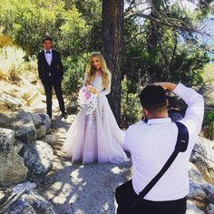 Reposting this AMAZING behind-the-scenes shot by @ladida_beauty with Hayley in her gorgeous first dress and unique bouquet of roses, berries and orchids! #gorgeousfloral #rcedweddings2015 #thankheavenforseveneleven