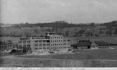 The Coal Board Offices with Kippax Park Yorks-on the hill in the distance