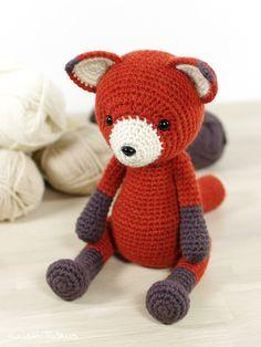 Crochet pattern: 4-way jointed amigurumi fox  // Kristi Tullus (spire.ee)