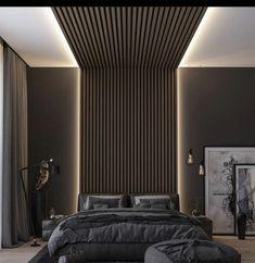 Modern Luxury Bedroom, Luxury Bedroom Design, Master Bedroom Interior, Modern Master Bedroom, Luxurious Bedrooms, Home Decor Bedroom, Dark Bedrooms, Modern Bedrooms, Bedroom Ideas