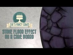 Creating a stone floor effect on a cake board How To Tutorial Zoes Fancy Cakes - YouTube