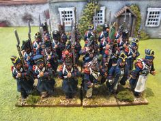 French Chasseurs from the Napoleonic Wars from Tarleton's Quarter:  http://gilesallison.blogspot.com/2013/04/3rd-chasseurs-2nd-battalion.html