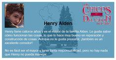 Henry Alden, el mayor y más ingenioso de la familia.    Los chicos del vagón de carga (The Boxcar Children's Series), de Gertrude C. Warner. http://www.openroadmedia.com/los-chicos-del-vagon-de-carga1
