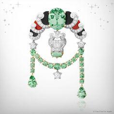 VAN CLEEF & ARPELS: The Zodiac Clips-Libra
