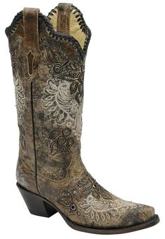 Corral Women's Studs And Whip Stitch Western Boots * This is an Amazon  Affiliate link.