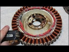 How to rewire an old washing machine motor to generate free power ..j