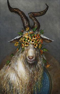 Kai Fine Art is an art website, shows painting and illustration works all over the world. Arte Horror, Horror Art, Regard Animal, Goat Art, Satanic Art, Arte Obscura, Surrealism Painting, Design Blog, Surreal Art