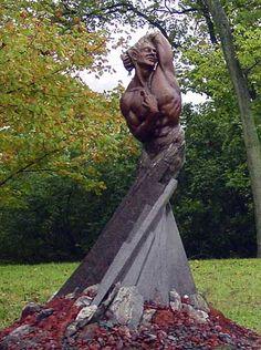 Sculptor: Sam McKinney - sculpture: Adam's First Breath - Sculpture.org - Sculpture.org