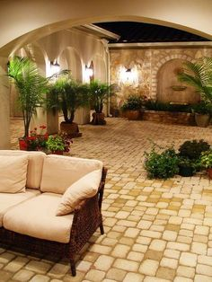 Mommy style -Hacienda Courtyard at Flintrock Lakeway, Texas - mediterranean - patio - austin - Alberto Jauregui Designs, Inc. Spanish Style Homes, Spanish House, Spanish Style Decor, Spanish Revival, Spanish Colonial, Outdoor Rooms, Outdoor Living, Outdoor Decor, Outdoor Kitchens